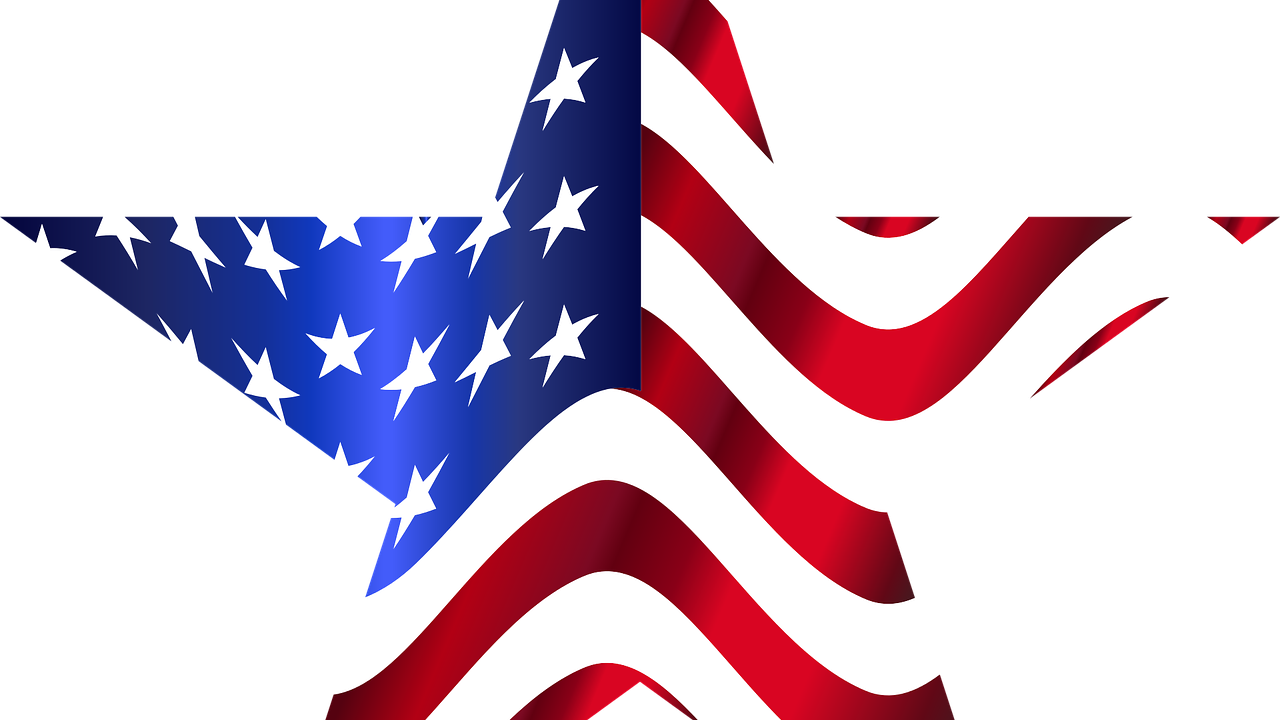 American flag in a star shape